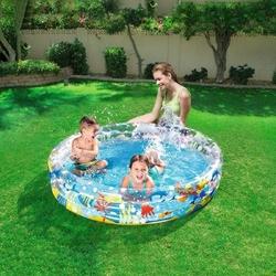 Bestway - Bestway BW-51004 3 Boğumlu Okyanus Desenli Şişme Çocuk Havuzu 150 X 30