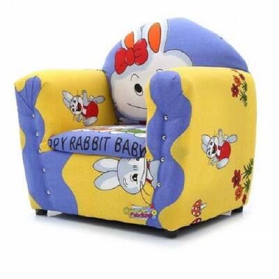 Beta Toys Çocuk Koltuğu Ahşap Tavşan Desenli