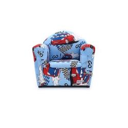 Beta Toys Çocuk Koltuğu Mavi Renk Kırmızı Arabalı Koltuk GO GO - Thumbnail