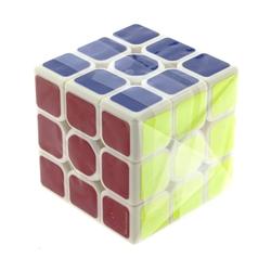 MEGA - Beyaz Zemin Üzeri Renkli Zeka Küpü 3X3