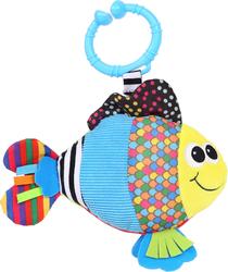BIBA TOYS - Biba Toys Çıngıraklı Puset Oyuncağı Balık-Titreşimli