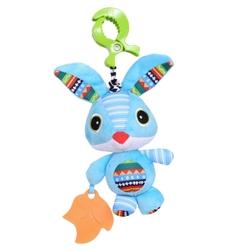 BIBA TOYS - Biba Toys Çıngıraklı Puset Oyuncağı Tavşan-Titreşimli