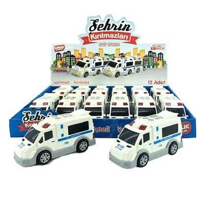 Birlik Toys Kırılmaz Oyuncak Polis Ekip Otosu 12 Cm