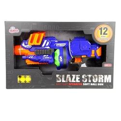 Vardem Oyuncak - Blaze Storm Silah Pilli Top Mermi Atan Tüfek 12 Parça Top Soft Mermi