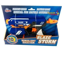 Blaze Storm Silah Yumuşak Mermili Tabanca (10 Adet Mermili) ZC7036A - Thumbnail