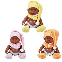 Sunman - Boubou Esmer Sesli Oyuncak Bebek 25 cm