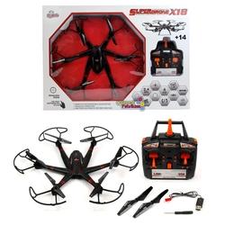 Vardem Oyuncak - Büyük Boy Uzaktan Kumandalı Drone 2.4Ghz Led Işıklı Aerodrone X 18 Helikopter