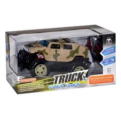 Can-em Oyuncak - Can-Em Oyuncak Uzaktan Kumandalı Usb Şarjlı Askeri Jeep Işıklı 1:12 Ölçek