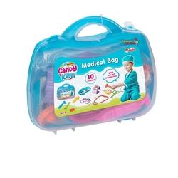 Dede toys - Candy Ken Oyuncak Doktor Çantası Seti 10 Parça