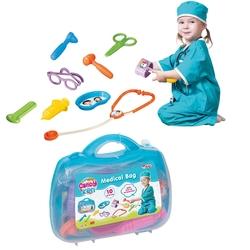 Dede toys - Candy Oyuncak Doktor Çantası Seti 9 Parça