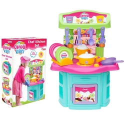 Dede toys - Candy Şef Mutfak Set 16 Parça