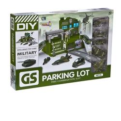 Can-em Oyuncak - Canem Oyuncak Büyük Askeri Garaj Otopark Seti 5 Araçlı