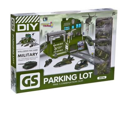 Canem Oyuncak Büyük Askeri Garaj Otopark Seti 5 Araçlı