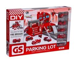 Can-em Oyuncak - Canem Oyuncak Büyük itfaiye Garaj Otopark Seti 5 Araçlı