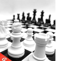 Çantalı 3'Lü Oyun Seti Satranç-Dama-Tavla Büyük Boy - Thumbnail