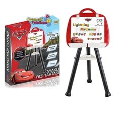 Furkan Toys - Cars Arabalar Ayaklı Yazı Tahtası 68 Parça Manyetik Harfler ve Rakamlar