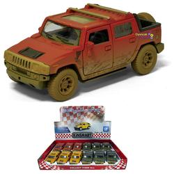 Kinsmart - Çek Bırak Araba Çamurlu Kinsmart 2005 Hummer H2 SUT 1:40