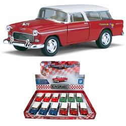 Kinsmart - Çek Bırak Araba Kinsmart 1955 Chevy Nomad 1:40