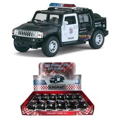 Kinsmart - Çek Bırak Araba Kinsmart 2005 Hummer H2 SUT Police
