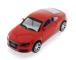 MEGA - Çek Bırak Audi Benzeri Kırmızı Metal Araba
