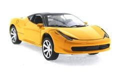 MEGA - Çek Bırak Ferrari Benzeri Sarı Metal Araba