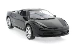 MEGA - Çek Bırak Ferrari Benzeri Siyah Metal Araba