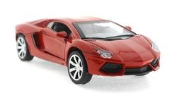 MEGA - Çek Bırak Lamborghini Benzeri Kırmızı Metal Araba
