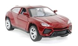 MEGA - Çek Bırak Lamborghini Benzeri Simli Bordo Metal Araba