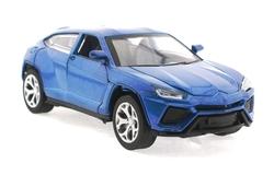 MEGA - Çek Bırak Lamborghini Benzeri Simli Mavi Metal Araba