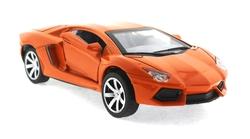 MEGA - Çek Bırak Lamborghini Benzeri Turuncu Metal Araba