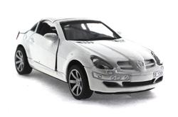 MEGA - Çek Bırak Mercedes Benzeri Beyaz Metal Araba