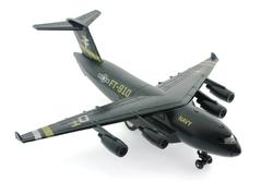 MEGA - Çek Bırak Metal Beyaz Gri Kamuflajlı Askeri Kargo Uçağı Sesli Işıklı
