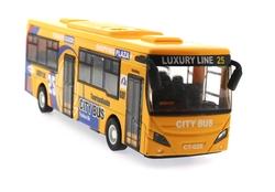 MEGA - Çek Bırak Metal Turuncu Turist Otobüsü Sesli ve Işıklı