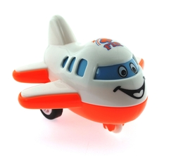 MEGA - Çek Bırak Mini Sevimli Beyaz Uçak