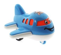 MEGA - Çek Bırak Mini Sevimli Mavi Uçak