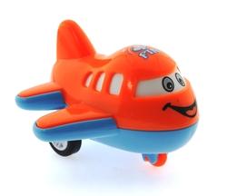 MEGA - Çek Bırak Mini Sevimli Turuncu Uçak