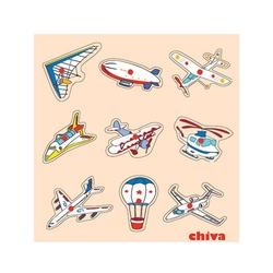 Chiva Oyuncak - Chiva, Hava Taşıtları Ahşap Puzzle 1003-CS