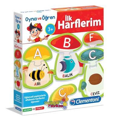 Clementoni Eğitici Oyun Oyna ve Öğren İlk Harflerim 3+Yaş