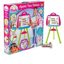Furkan Toys - Çocuk Heidi Ayaklı Yazı Tahtası 79 Parça Manyetik Harfler Rakamlar