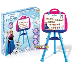 Furkan Toys - Çocuk Yazı Tahtası Frozen Karlar Ülkesi Elsa 68 Parça Mıknatıslı Harfler Rakamlar