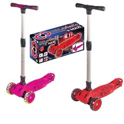 Furkan Toys - Cool Wheels Maxi 3 Tekerlekli ışıklı Scooter +6 Yaş Katlanabilir Ayarlanabilir Boy