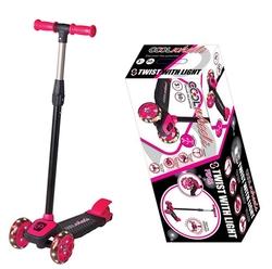 Furkan Toys - Cool Wheels Twist Led Işıklı 3 Tekerlekli Ayarlanabilir Scooter-Pembe