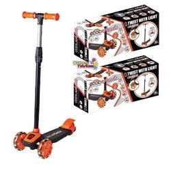 Furkan Toys - Cool Wheels Twist Led Işıklı 3 Tekerlekli Ayarlı Scooter Turuncu