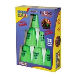 Matrax OyuncakFabrikasi - Cup Stacks Hızlı Bardak Dizme Seti Oyunu 12 adet