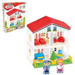 Dede toys - Dede 2 Katlı Oyuncak Ev Bloklar Aksesuarlı 40 Parça