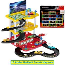 Dede toys - Dede 3 Katlı Garaj Oyun Seti 10 Araba Hediyeli