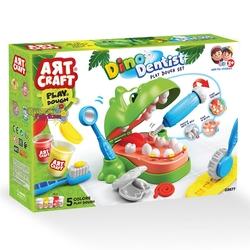 Dede & Art Craft Dinozor Dişçi Oyun Hamur Seti - Thumbnail
