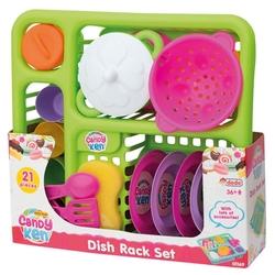 Dede toys - Dede Candy Oyuncak Bulaşık Oyun Seti 21 Parça