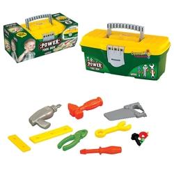Dede toys - Dede Çantalı Oyuncak Tamir Seti Kilitli Power 12 Parça