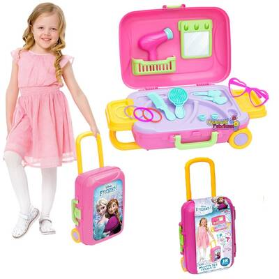 Dede Frozen Oyuncak Güzellik Set Bavulum 18 Parça